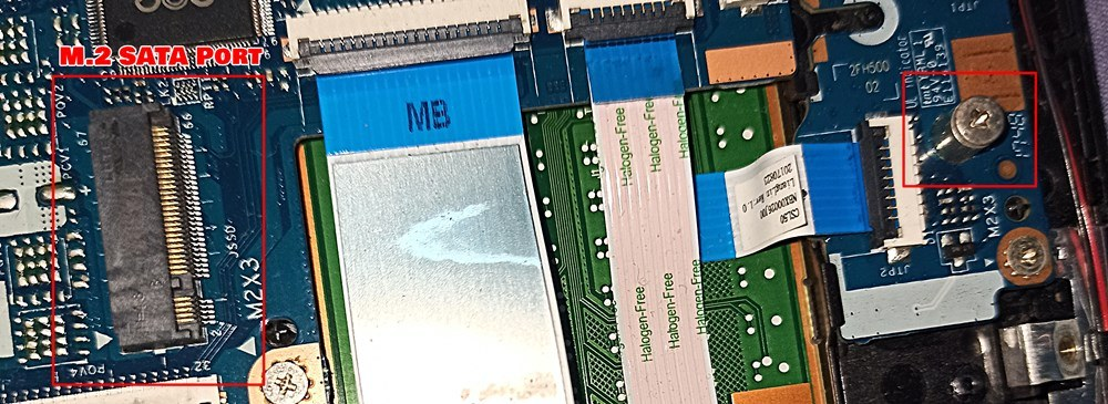 M.2 SATA port on laptop motherboard