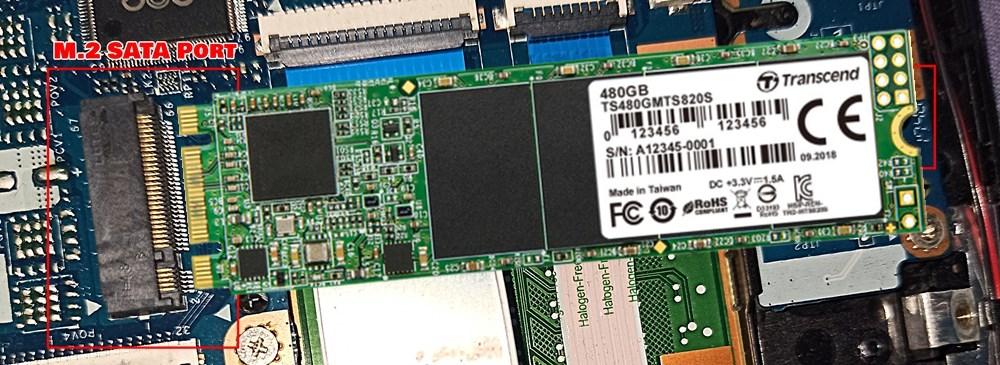 inserting M.2 SATA SSD in M.2 SATA port perfectly