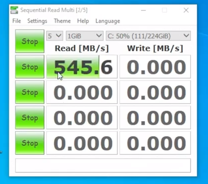 sequential read speed of ssd