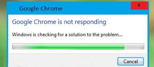 Google chrome is not responding (image)