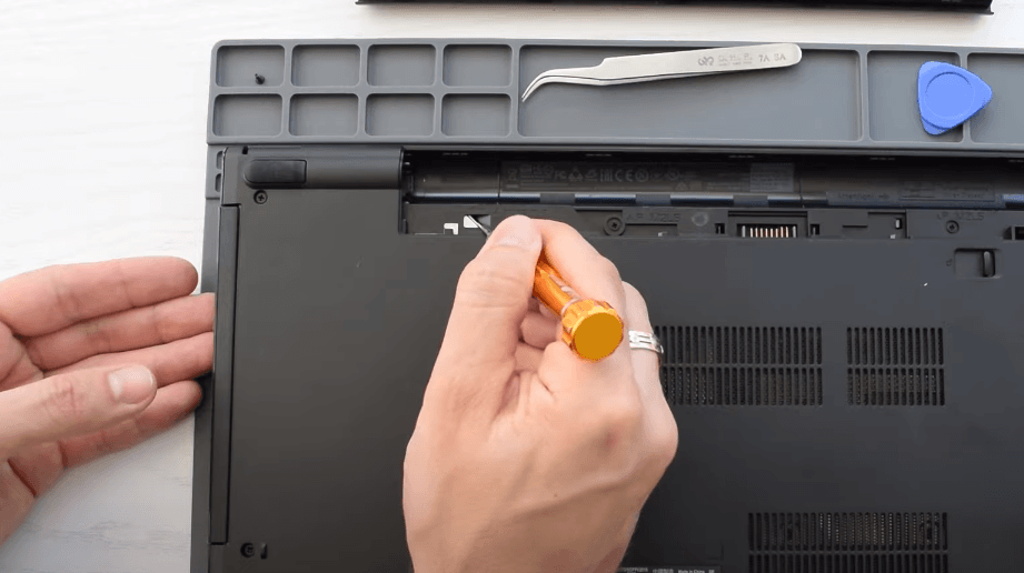 pushing the dvd drive out