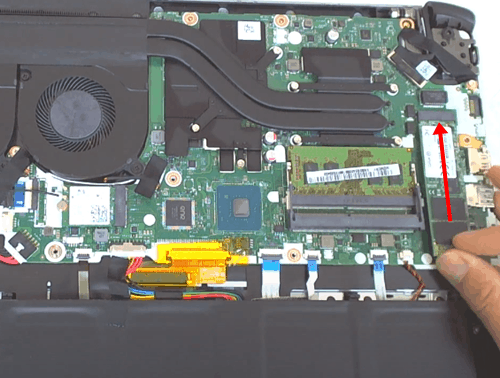 Inserting the M.2 Drive