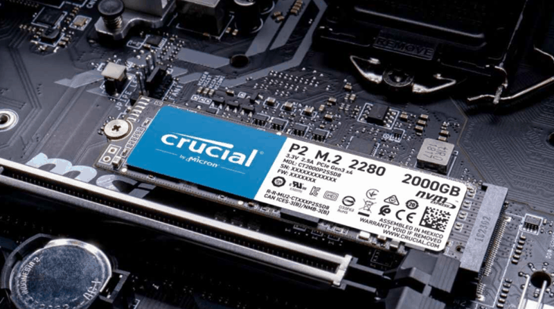 Crucial p2 ssd image