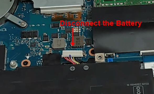 disconnecting the battery connector