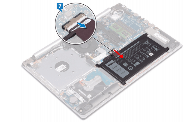 disconnecting the battery from the motherboard
