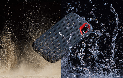 sandisk extreme is dust and water proof