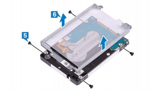 removing the hard drive bracket