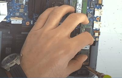 tightening the M.2 screw